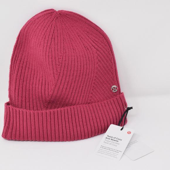 866a763b1 Lululemon Twist of Cozy Knit Beanie Wool New NWT